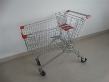 China 2015 Asia style trolley 80Litter Zinc and coating/Chrome shopping cart supermarket