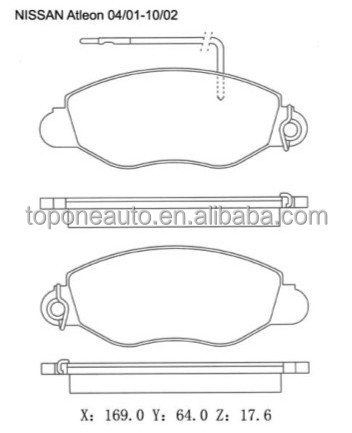 Auto Parts Factory Supplier Exporter Brake Pads For NISSAN CABSTAR E