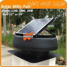 Round Solar Exhaust Fan with adjustab Solar Panel and Fan to Keep House Cool and Dry