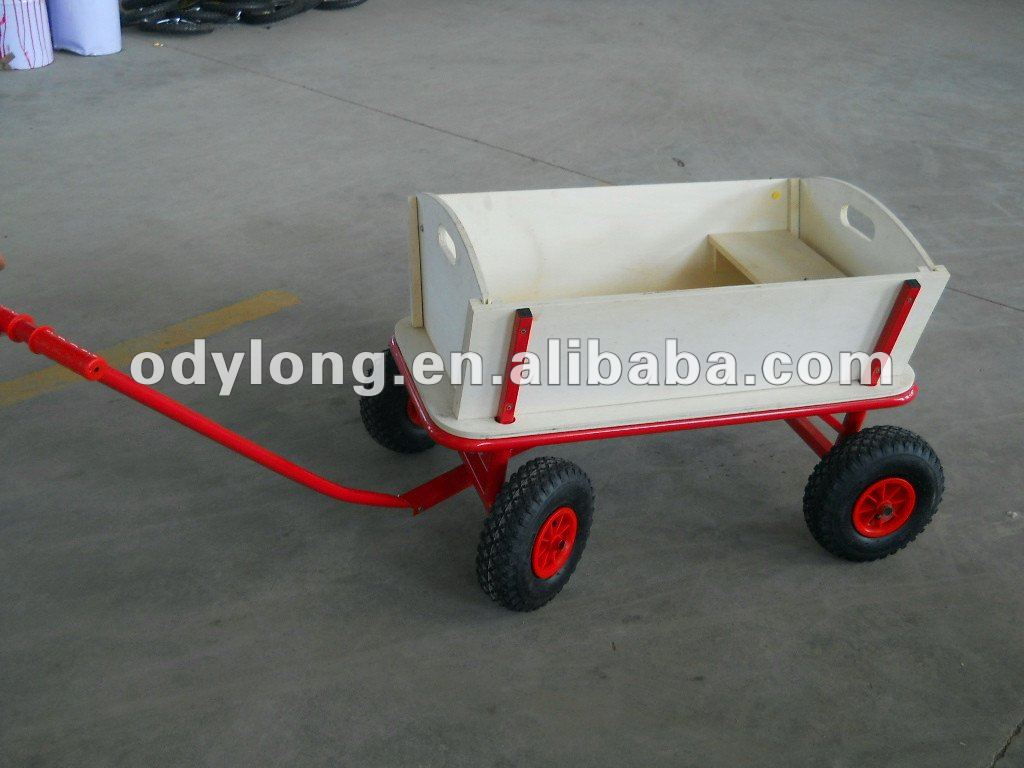 Wooden cart,wooden wagon,Tools Cars with handle for gardener TC001