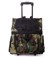 New Design Camouflage Capsule Car Pet Carrier Bag Trolley Backpack Dog Carrier Bag