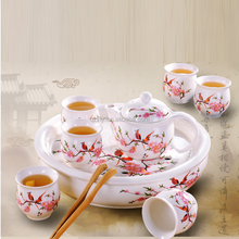 Mountains And Waters Painting Fine Ceramic Chinese Scenery Tea Sets Japanese Tea Sets