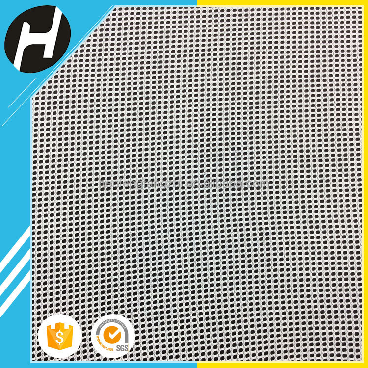 50D polyester tricot honeycomb pvc mesh outdoor uv mesh fabric