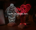 Warm and creative fashion wedding night light Alice