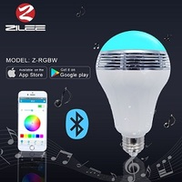 6W Multi-Color Music Bulb with App Remote control the color, brightness, turn on/off music rhythm