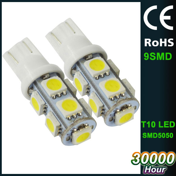 car led light bulb T10 DC12V SMD5050 brake signal lighting