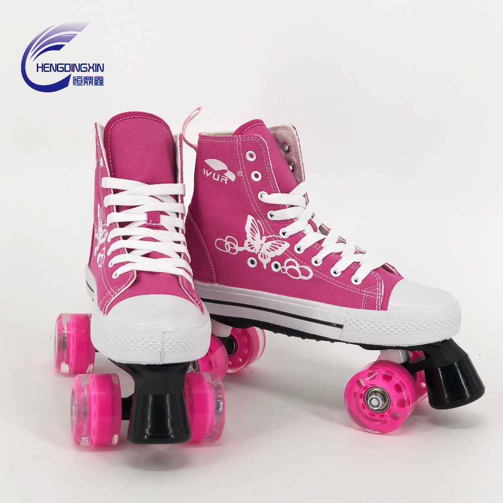 adult quad skates kids roller skates rental skates canvas shoes pu wheels
