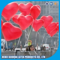 "12"" high quality heart shaped latex balloons,custom made shape balloons"