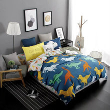 premuim new design dinosaur bed linen adult dragon bedding set