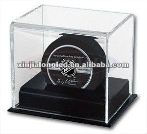 Clear Acrylic Hockey Puck Display Case Acrylic Hockey Puck Display Box