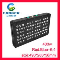 China Manufacturer IP44 80x5w led grow lights with for hydroponics system tomato medical plants