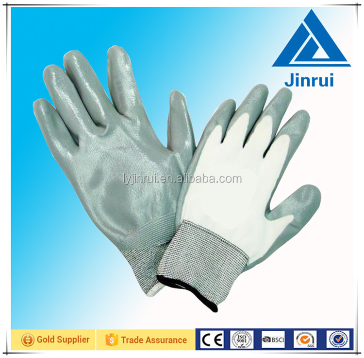 white polycotton dip light purple latex dipped working gloves