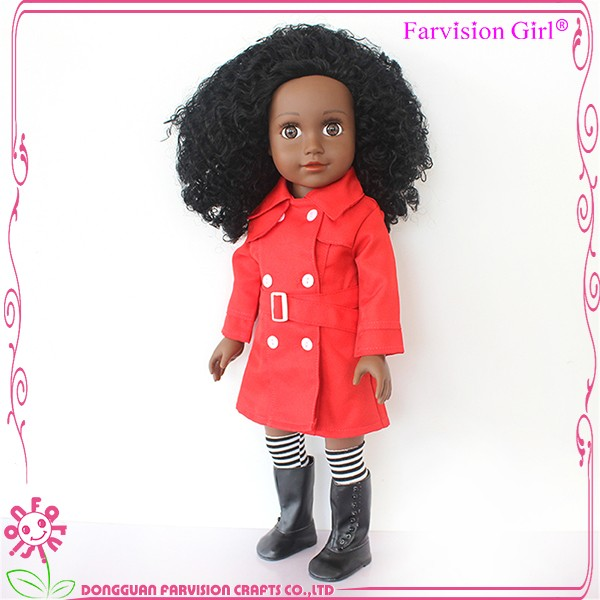 18 inch large black doll with black afro hair