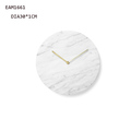 customized design white marble stone wall clock and board sets for decoration