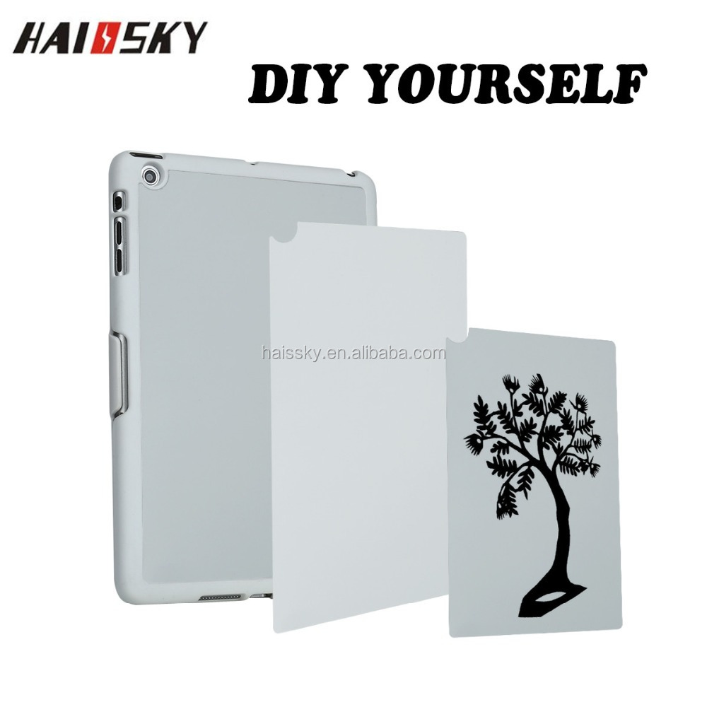 Haissky hot sale blank white aluminum insert 2D sublimation shockproof case for ipad mini tablet computer
