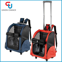 Breathable Pet Trolley Bag Pet Trolley Carry Bag with Wheel Pet Dog Case