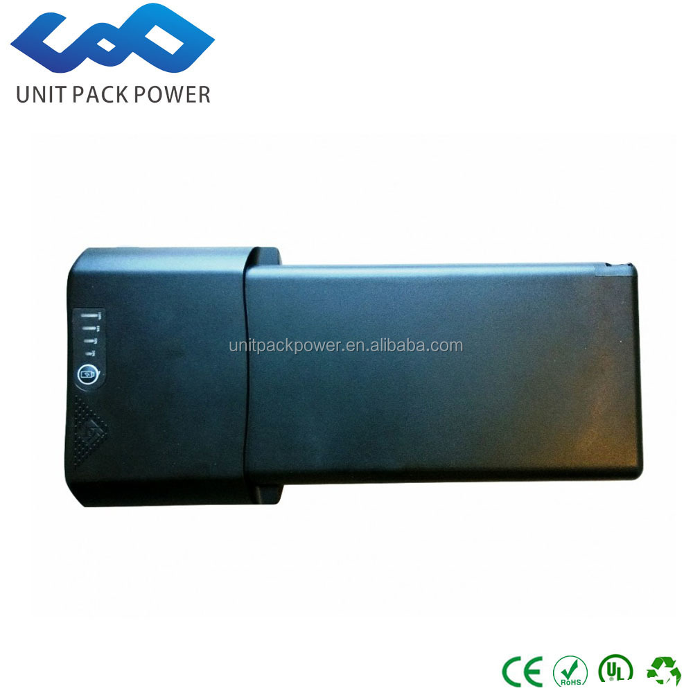 Hot selling 18650 lithium batterires rechargeable 8.8ah 36v lithium ion battery pack for ebike with rear rack case