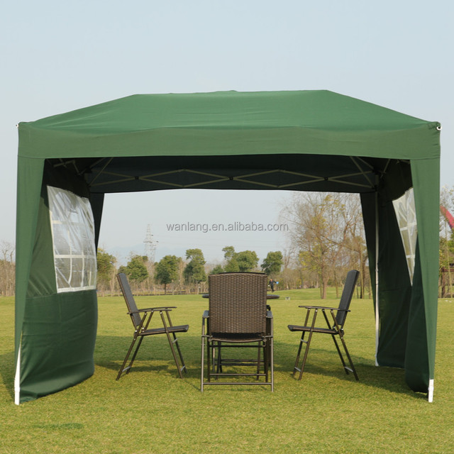 10x10 Feet outdoor folding sun shade gazebo beach canopy tent with sidewall