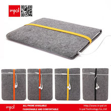 Bulk office dark grey felt case with colorful stripe