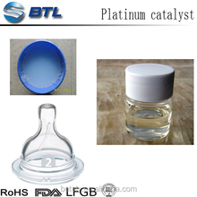 Platinum vulcanization for extruded silicone products with mix ratio A:0.8-1.0% B:1.5-2.0%