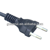 2pin Brazil extension cord10A 125V PVC power cable
