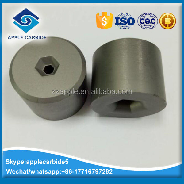 YG6/YG8 tungsten carbide drawing dies/drawing pellets of hexagon