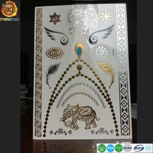 factory price temporary metallic flash gold temporary tattoo stickers, Body art