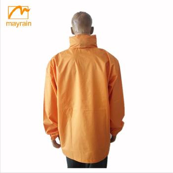 High Quality Orange With Hoodie Customize Men Winter Coat