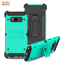 Heavy duty hybrid cellphone cover case for samsung note 8