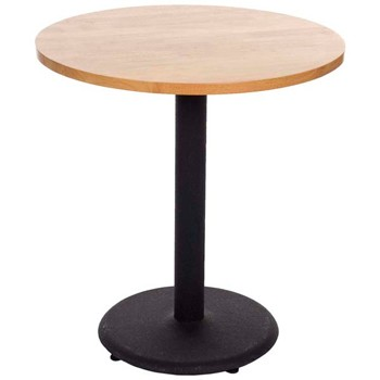 Hot Sale Modern Designs Dining Table With Cast Iron Base And Wood Top