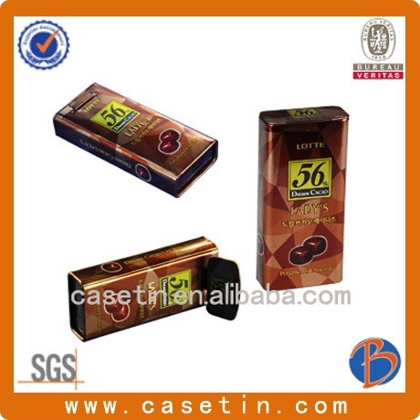 square hinged tin box/decorative tin boxes/pacakge tin box