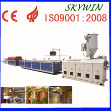 PVC Single Screw Production Line With Natural Wooden Grain / pvc deco profile extrusion line