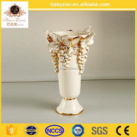 White flower Chinese Antique ceramic vase home decor