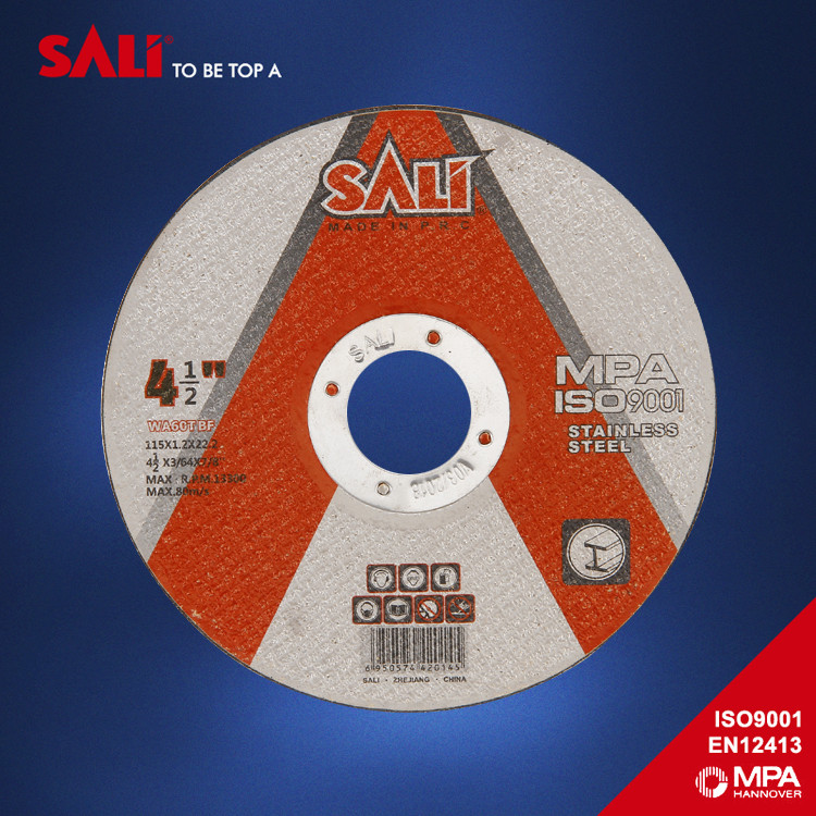 "High quality T41 flat 4 1/2"" abrasive cutting disc for stainless steel"