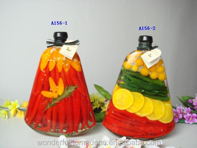 Quality decorative vegetable vinegar bottle