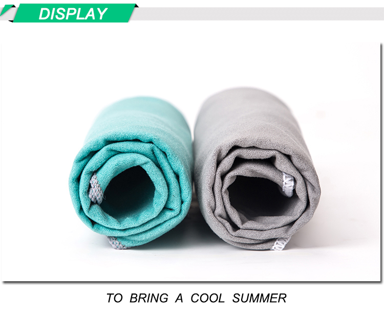 2018 latest design microfiber towel sports towel for heat relief gym towel super water absorbent 90*30cm