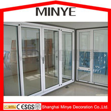 LUXURIOUS LOOK 3 LOW TRACK ALUMINUM SLIDING DOOR FOR SHOP OR MALL