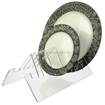 Acrylic Plate Stand Rack Display 5 Small to Large Plates Dishes Dinnerware  sc 1 st  Shenzhen Xianfenglong Industry Co.Ltd. - Alibaba & Acrylic Plate Stand Rack Display 5 Small To Large PlatesDishes ...