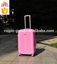 pink 3 piece trolley luggage case, pp luggage suitcase