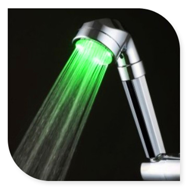 C-158LED brass shower head with color changing led light