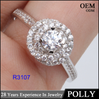 Luxury flower shap diamond 925 silver ring for women 10 years experience wholesale