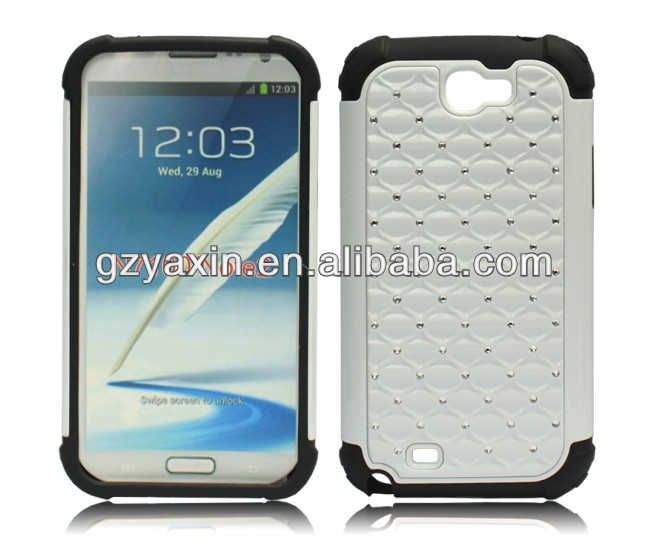 New style fashional metal bumper case for samsung galaxy note 2/n7100