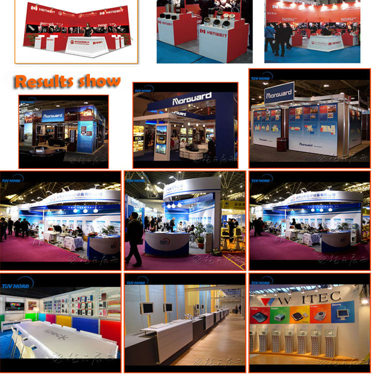 wooden painted and hot sales expo booth gold supplier in shanghai