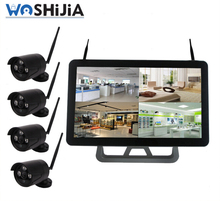 8ch wireless nvr kit with 10 inch monitor 960h dvr 8ch kit h.264 nvr kits