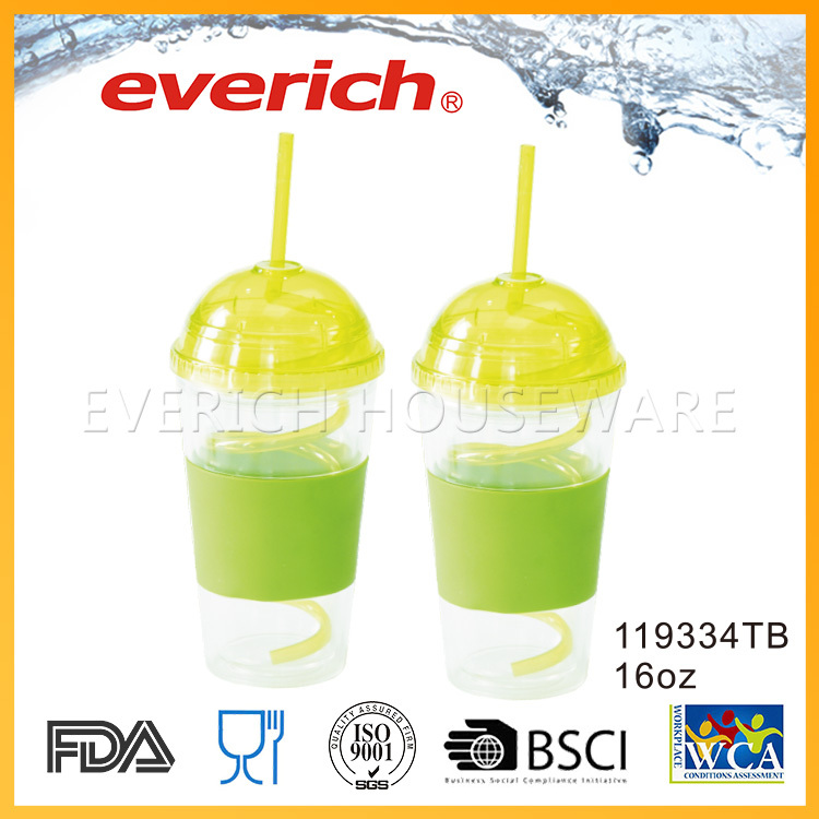 Widely Used Double Layer Clear Plastic Salad Cup