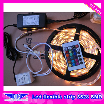high brightness flexible rgb 60eds high voltage 3528 led strip