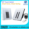 smart home touch light wall switch electric 2 pin and 3 pin socket with wall switch touch wall switch