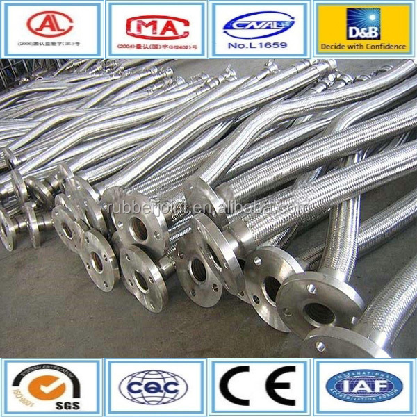 flange type braided flexible stainless steel hose