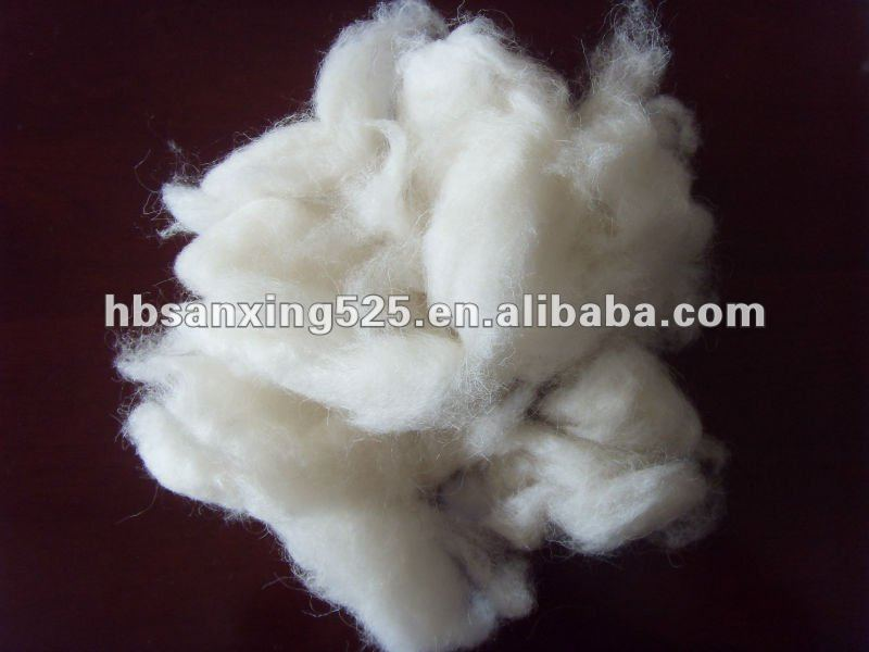 The best quality of carded sheep wool fiber
