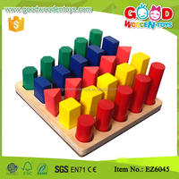 Math Teaching Aids Color and Shape Sorter Matching Professional Wooden Toys